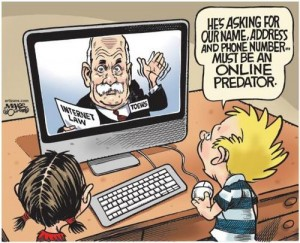Toews must be an online predator.