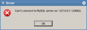 HeidiSQL can't connect to MySQL.