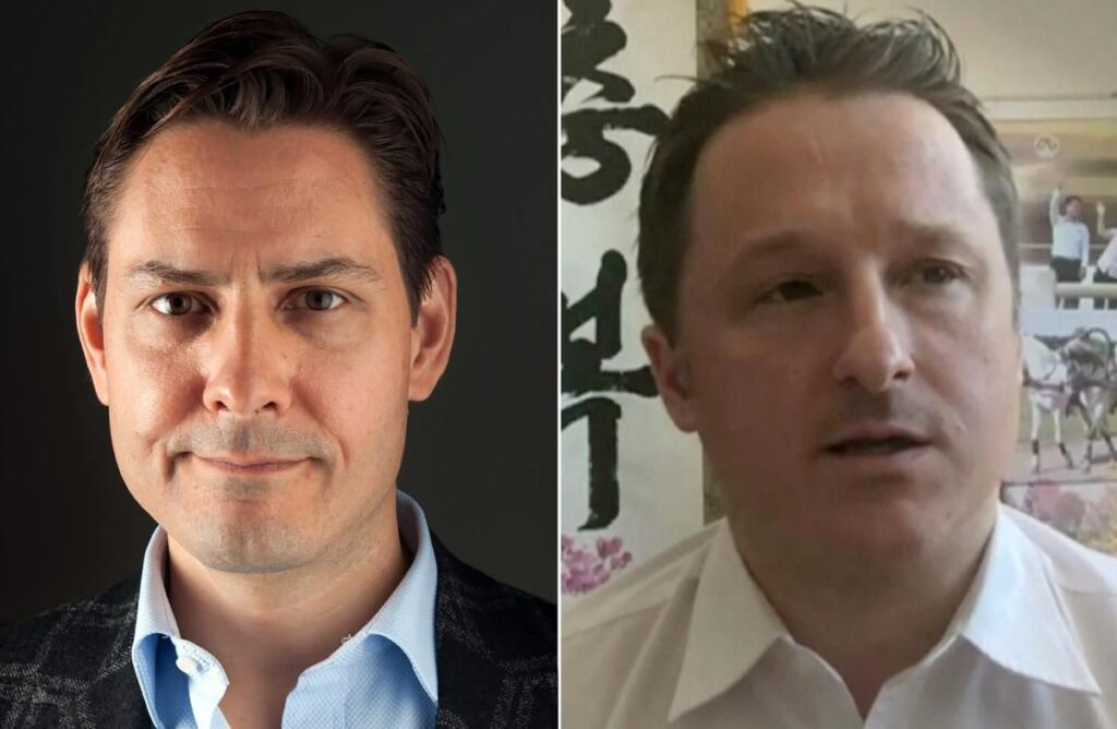Collage: Michael Kovrig and Michael Spavor (the Two Michaels).