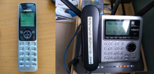"VTech model CS6649-3 cordless phone and ""digital answering system"""