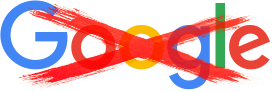 Defaced Google logo